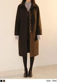 STANDING WOOL RAGLAN COAT