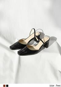 [SHOES] SLINGBACK MIDDLE HEEL - 2 TYPE