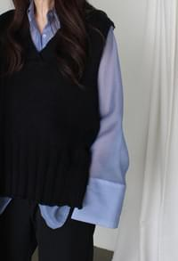 See-through blouse (4color)