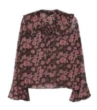 Rose frilly blouse