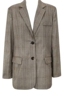 GLEN CHECK ROLL UP JACKET