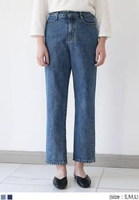 [BOTTOM] HIGH FIT SEMI BAGGY DENIM PANTS