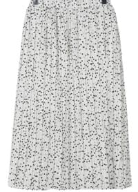 Dot natural long skirt