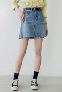 A-line cutting denim SK