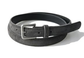 real suede belt