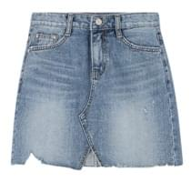 Winnie Damage Denim Skirt