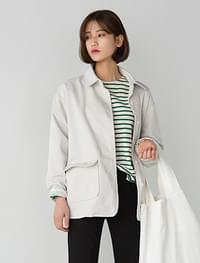 minimal cotton jacket
