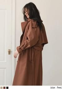 [OUTER] DOUBLE RAGLAN BELT TRENCH COAT