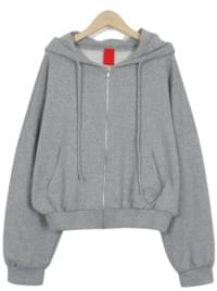 Pop crop hood zip-up_M (size : free)
