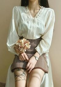 Beaded - lace blouse