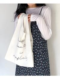 Simplicity lettering bag_H (size : one)