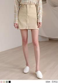 MELLO NATURAL CUTTING MINI SKIRT