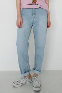 Clean standard denim pants