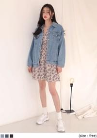 RETRO OVER FIT DENIM JACKET