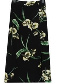 Lily flowery long skirt_K (size : free)