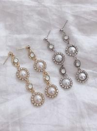 Bling Moon Long Earring