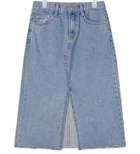 eight denim midi skirt (s, m, l)