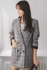 Manhattan check jacket