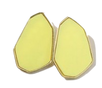 Spring color polygon earring_S (size : one)