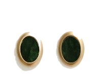 [JEWELRY] MARBLE GEMSTONE GOLD EARRING