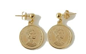 unique coin earring