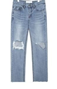 WIDEN DAMAGE DENIM PANTS