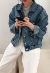Boxy denim jacket (2color)