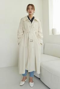 Part strap trench coat