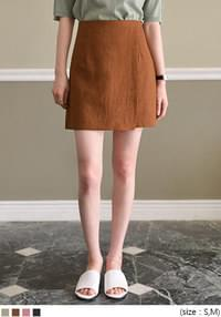 [SKIRT] MILD LINEN LAP MINI SKIRT