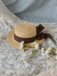 romantic ribbon boater hat