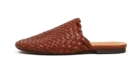 Leather Mesh Mule Slippers