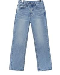 HIGH SEMI BOOTS CUT DENIM PANTS