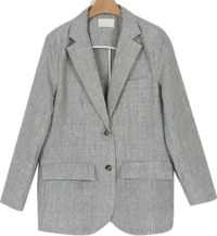 totem check linen jacket (2colors)