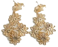 many flower earrings (2colors)