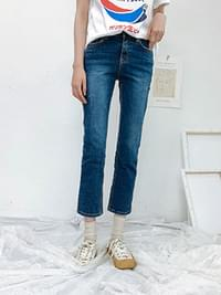 Date Rolling Denim pants 1 COLOR Spring Daily Mirror