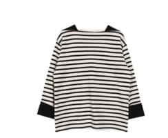 Square stripe tee (2color)