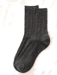 Twist Pattern Crew Socks