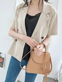 Chic Cross Bag 2COLOR Beige Black A-line Customers
