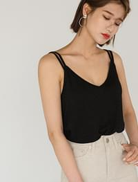 deep v-neck linen sleeveless