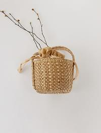 cylinder shape rattan bag