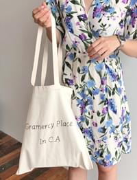 Pastel lettering cotton bag_H (size : one)