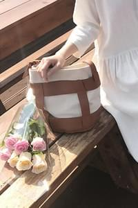 Twosome Shoulder and Cross Bag-Beige