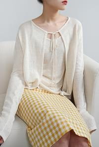 Feminine mood cardigan set
