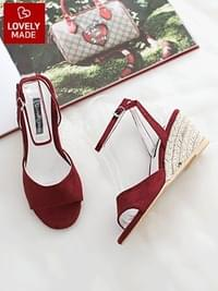Recube Strap Wedge Sandals 7cm