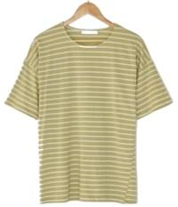 Striped loose-fit cotton tee