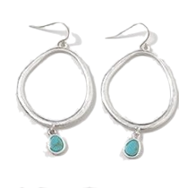 Catcher drop circle earring_K (size : one)