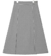 FRESH A gingham slit skirt (s, m)
