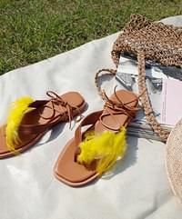 Light feather flip flops1.5cm
