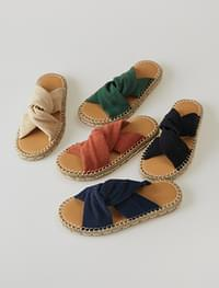 linen bold twist slipper