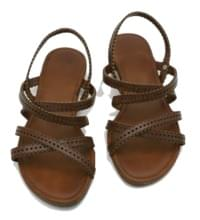 Punching strap sandals